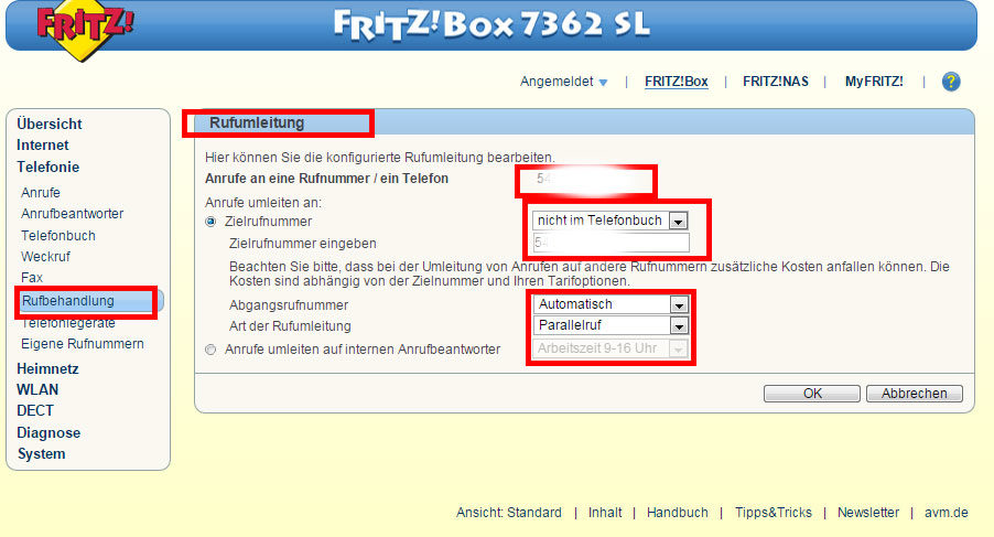 fritzbox ansage