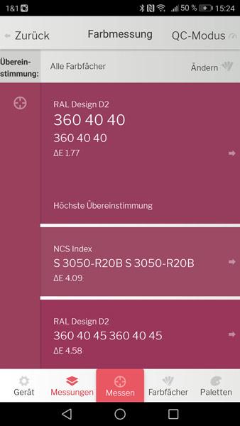 DataColor-Farbansicht-Color-Reader-Zeitlos-Nah-App